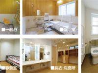 浴槽・静養室・脱衣所・洗面所・トイレ